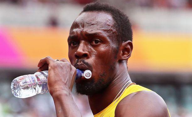 Usain Boltin viesti ei sujunut häiriöttä. Pää kesti hyvin.