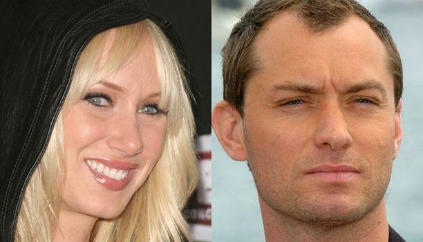 Onko tässä julkkismaailman uusin lemmenpari -Jude Law ja Kimberly Stewart.