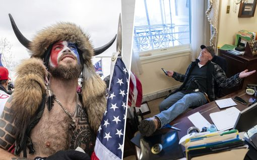 """Poliisi yhytti pöyristyttävistä kuvista tunnettuja Capitolin mellakoitsijoita – Myös """"sarvipää"""" pidätetty"""