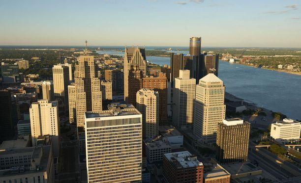 Talousongelmissa rypevä Detroit on Michiganin osavaltion suurin kaupunki.