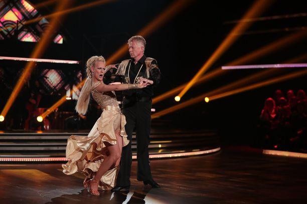 Pekka Pouta ja Jutta Helenius ehtivät olla mukana kymmenen viikkoa.