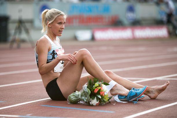 Camilla Richardsson juoksi uuden ennätyksensä.