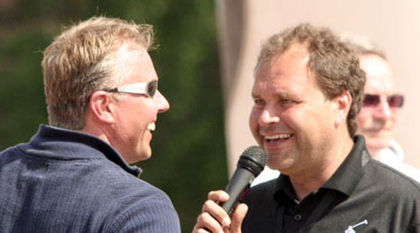 Simo Pulkkinen ja JJ Lehto pitivät hauskaa.
