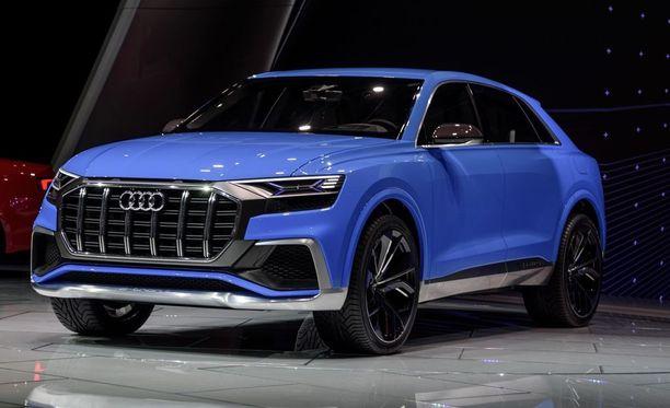 Uusi Audi Q8. Hinta nousee 11 865 euroa.