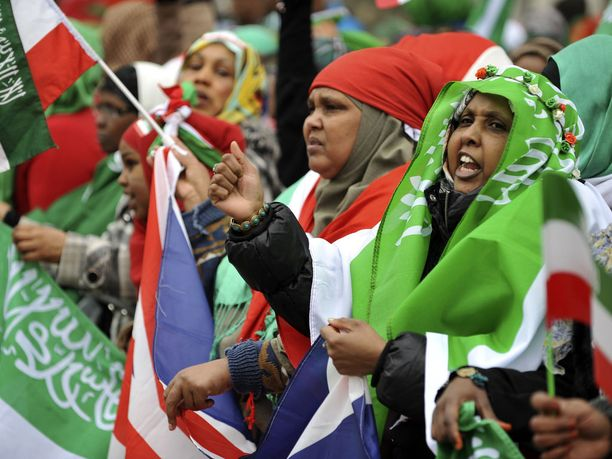 Mielenosoittajat vaativat Somalimaan tunnustamista Lontoossa 2012.