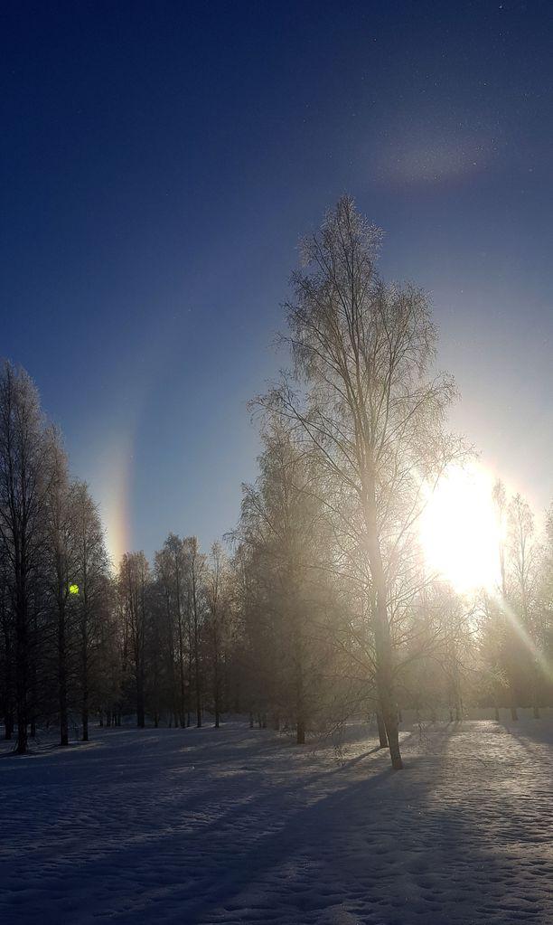 Oulussa on meneillään kunnon lumitalvi.