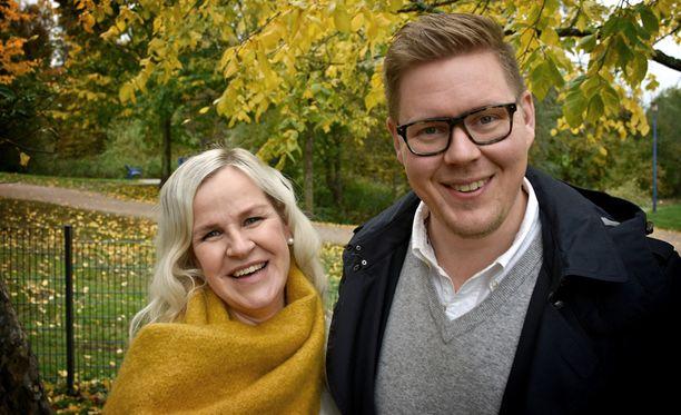 Kaija ja Antti ovat nyt onnellisia tyttövauvan vanhempia.