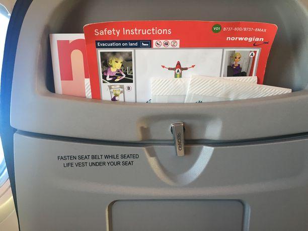 Norwegianin lennolla ollut turvallisuusohje aiheutti hämmennystä.
