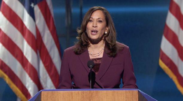 Demokraattipuolueen varapresidenttiehdokas Kamala Harris.