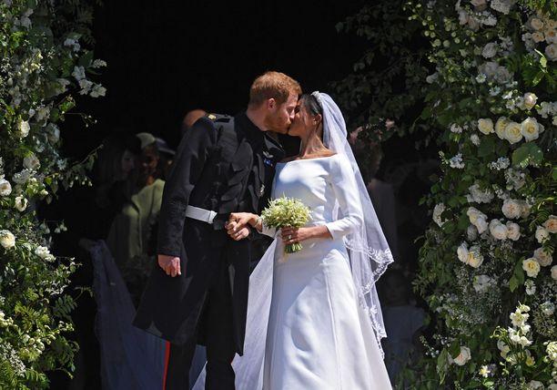 Harry ja Meghan saivat toisensa Pyhän Yrjön kappelissa 19. toukokuussa 2018.