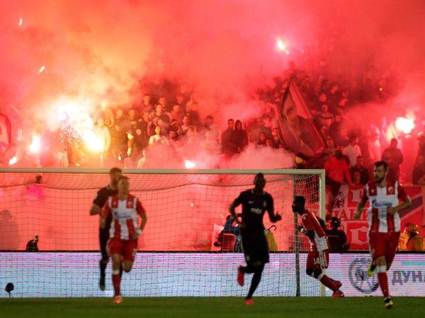 FK Partizanin ja Crvena Zvezdan kohtaaminen on yksi kuumimmista paikallisotteluista koko maailmassa.