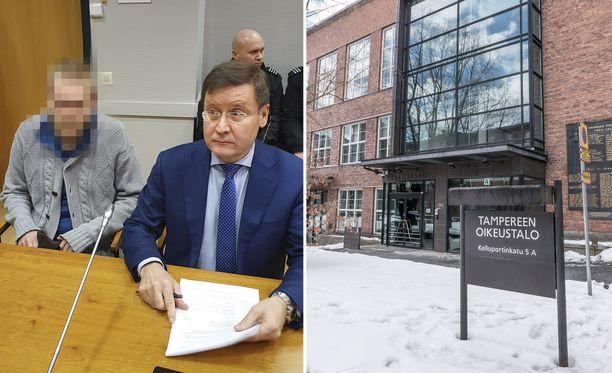 Mies vangittiin torstaina Tampereella.
