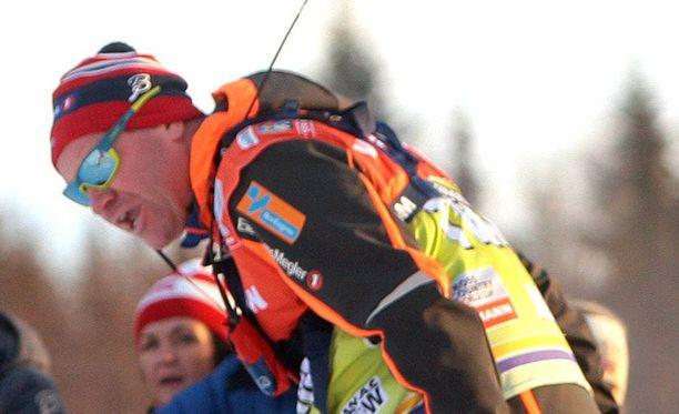 Roar Hjelmeset kävi kuumana kisan aikana.