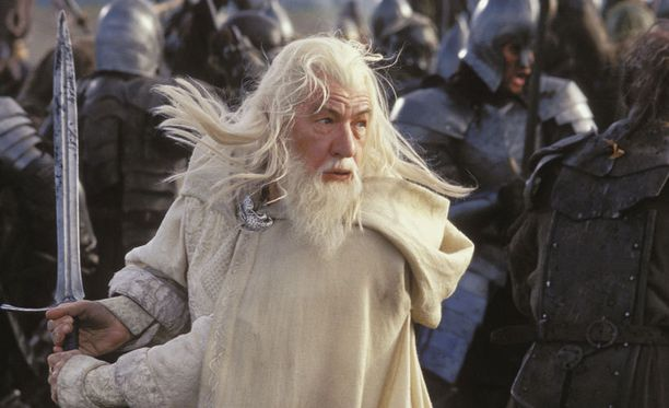 Näyttlijä Ian McKellen tunnetaan roolistaan Taru sormusten herrasta -elokuvista.