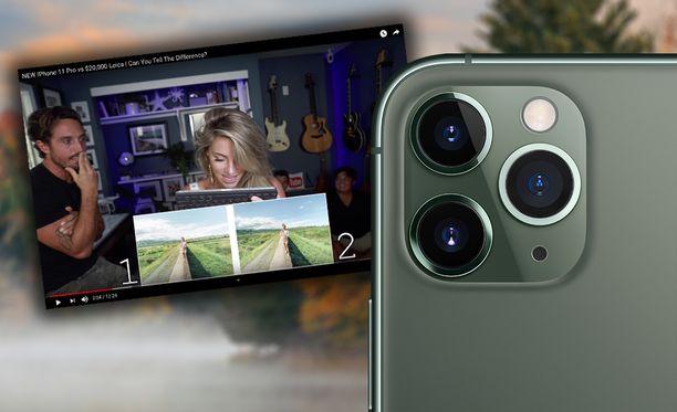 Iphone 11 Pron kamera tuottaa todella hyviä kuvia.