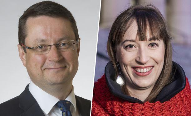 SDP:n kansanedustajat Mika Kari ja Eveliina Heinäluoma.