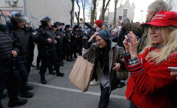 Mielenosoitus tänään Moskovassa.