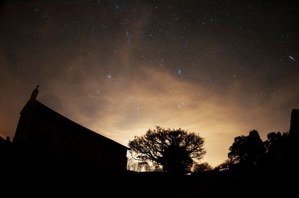 Geminidit näkyivät taivaalla Pohjois-Espanjassa viime yönä.
