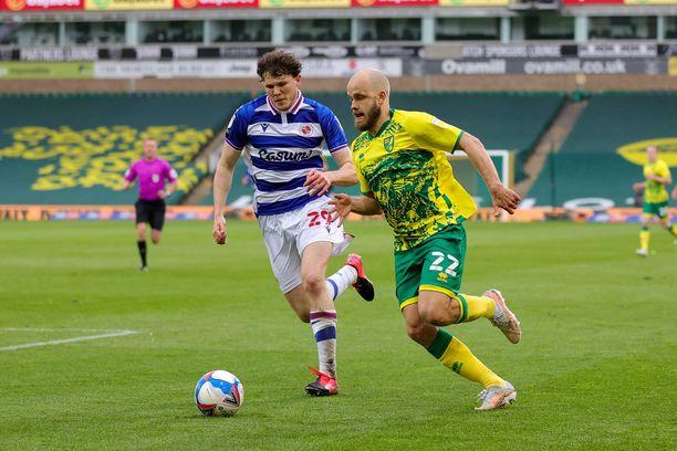 Norwich otti mestaruuteen vaaditut pisteet Readingia vastaan.