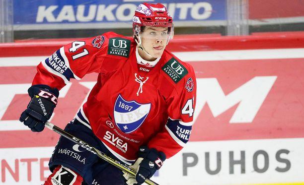 HIFK-pakki Miro Heiskanen lienee ensimmäisenä varattava suomalainen ensi yönä.