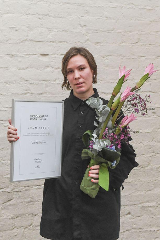 Heidi Karjalainen on Vuoden nuori suunnittelija 2017.