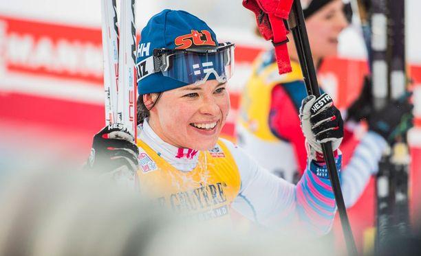 Krista Pärmäkoski sijoittui toiseksi Ruotsissa.