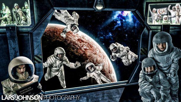 Puistolan peruskoulun kuudes luokka lähti avaruuteen.