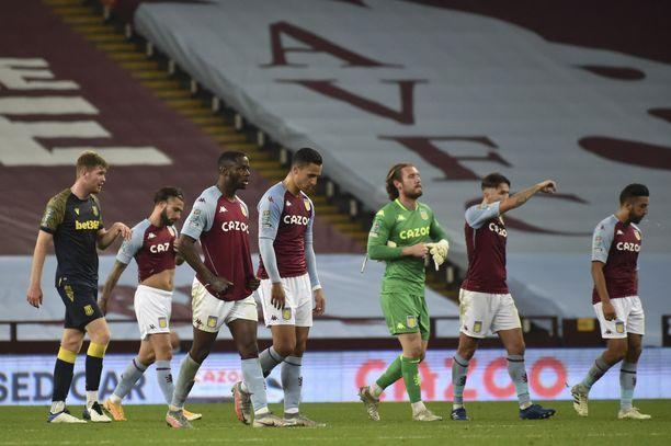 Aston Villa kohtaa sunnuntaina Liverpoolin.