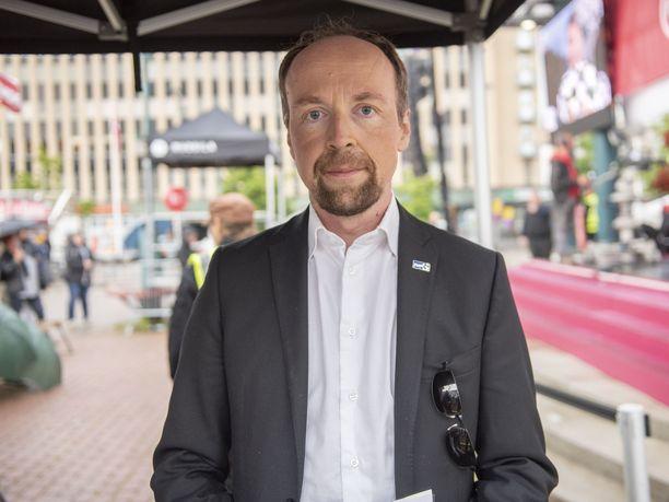 Perussuomalaisten puheenjohtaja Jussi Halla-aho voi olla tyytyväinen puolueen kasvavaan kannatukseen.