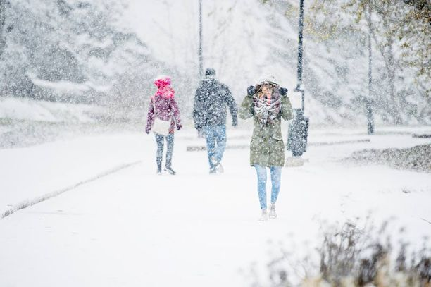 Sääennusteissa ei näy lauhtuvia kelejä, joten alkuviikosta satava lumi ei sula heti pois.