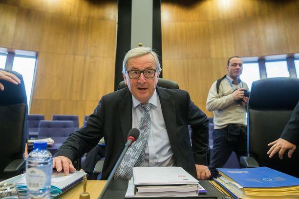 Jean-Claude Juncker Euroopan komission kokouksessa keskiviikkona.