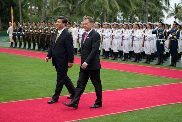 Tasavallan presidentti Sauli Niinistö vierailee Kiinassa.