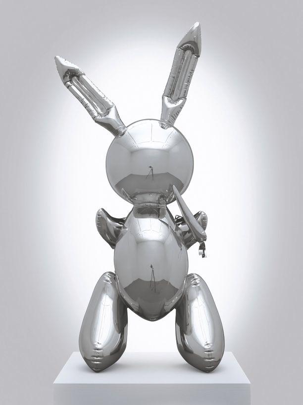 Rabbit on mallattu kuin se olisi ilmapalloista tehty lasten vappukoriste.