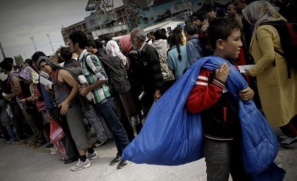 Frontex on pyytänyt EU-mailta apua Kreikan rajan valvontaan. Kuva Pireuksen satamakaupungista