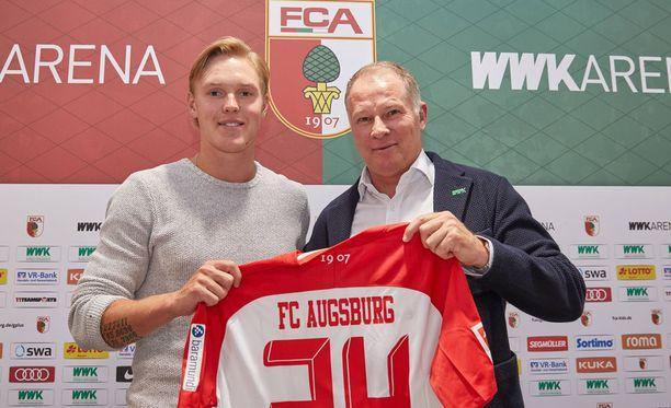Fredrik Jensen (vas.) lähtee valloittamaan Saksan Bundesliigaa.