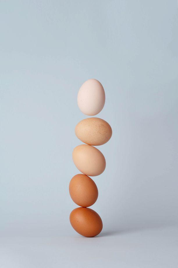 Kananmuna on hyvä proteiinin lähde.