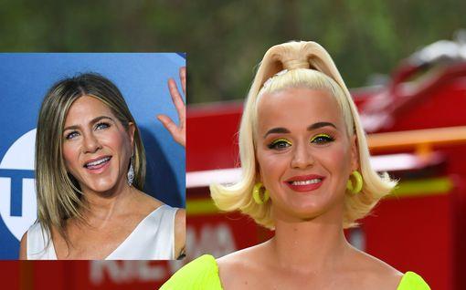 Laulaja Katy Perry tuoreissa kuvissa viimeisillään raskaana – Jennifer Anistonista tulossa lapsen kummitäti