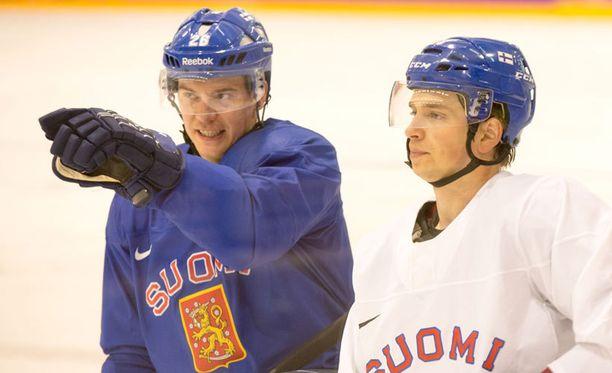 Jarkko Immonen ja Sakari Salminen (oik.) kohtaavat Jokerit tänään.