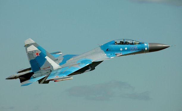 Turmakone oli Suhoi Su-30 -tyyppiä.
