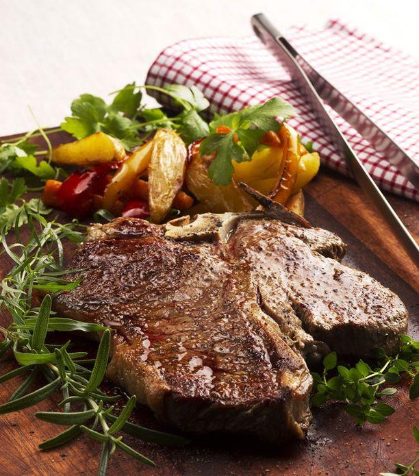 Roimasta Porterhouse Steakista syö helposti kaksikin nälkäistä.