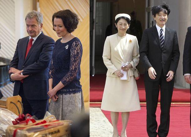 Presidenttipari tapaa Japanin kruununprinssiparin keskiviikkona.