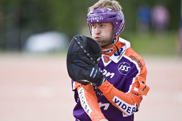 Jimi Heikkinen on voittanut urallaan seitsemän pesäpallon Suomen mestaruutta. Kuva vuodelta 2010.