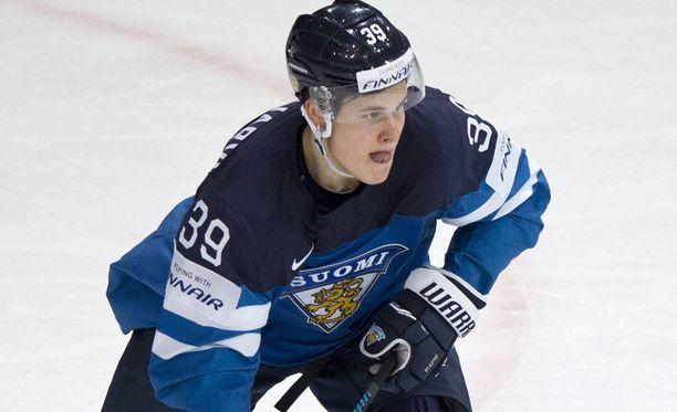 Jesse Puljujärvi pelasi viime keväänä Leijonien MM-joukkueessa.