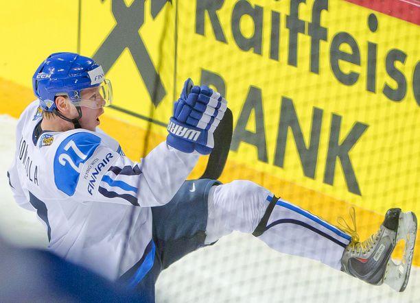 Petri Kontiola oli vireessä MM-kisoissa vuonna 2013. Tällä kaudella mies voitti Liigan pistepörssin.