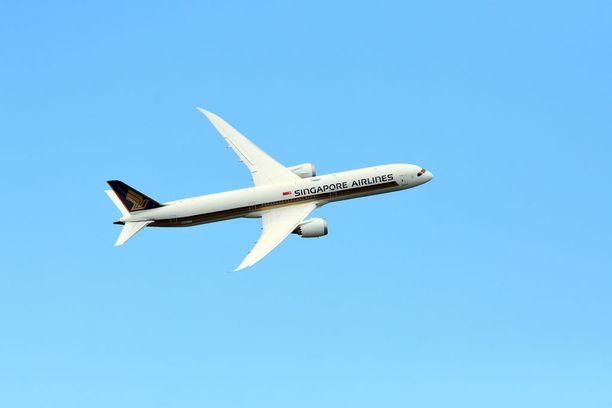 Singapore Airlines aloittaa megapitkät lennot. Kuvassa yhtiön Boeing 787.