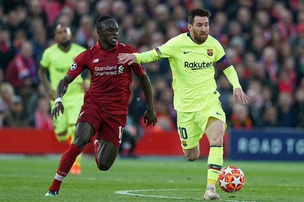 Sadio Manen Liverpool ja Lionel Messin Barcelona ovat haastajia tämän kauden Mestarien liigassa.