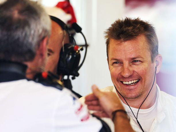 Kimi Räikkösen hymy oli herkässä hänen palattuaan Sauber-pilttuuseen ensimmäisen kerran sitten vuoden 2001.