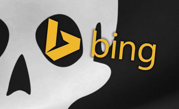Bing poisti roppakaupalla piraattihakutuloksia. Kuvituskuva.