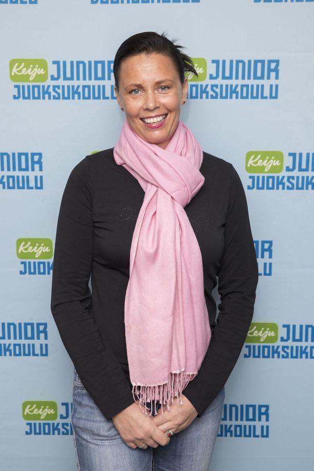 Susanna Ingerttilän oikea jalka koki kovia tikapuuturmassa. Kuva vuodelta 2016.