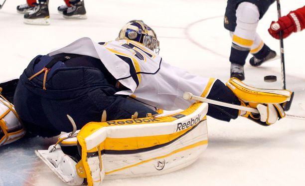 Pekka Rinne loisti Detroitia vastaan.